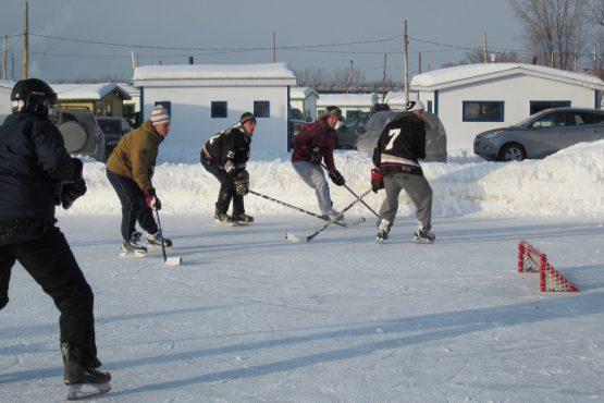 hockey sur la rivière Ste-Anne