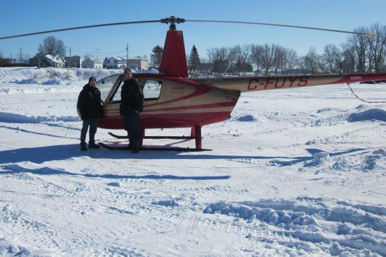 Hélicoptère rivière Ste-Anne