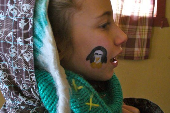 Maquillage pour les enfants petit poisson des chenaux